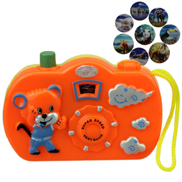 1PCs Cartoon Light Projection Camera Kids Educational Toys for Children Baby Gifts Animals World Random Color Toy Cameras