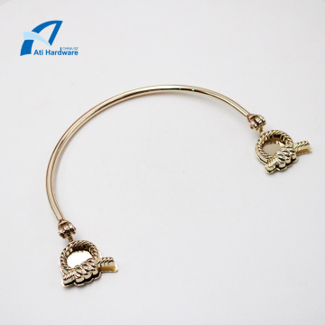 Special Shape Metal Bag Accessories Decorative Handle