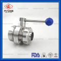 304/316L Threaded&welded Sanitary Butterfly Valve