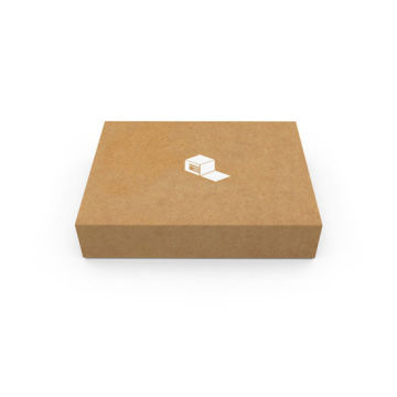 Custom Logo Kraft Paper Folable Gift Paper Box