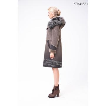 Short Lady Australian Merino Shearling Thick Coat