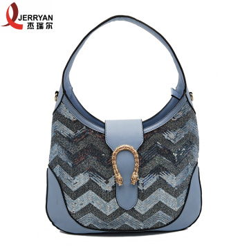 High Quality Blue HoboSling Tote Bag
