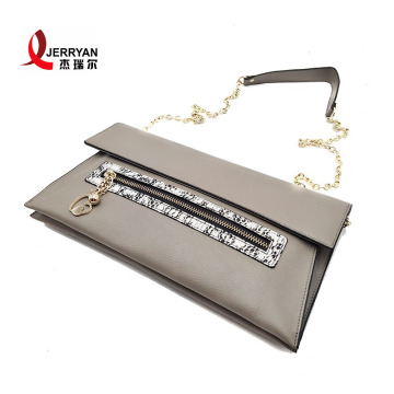 Grey Genuine Leather Ladies Bags Clutch Purses