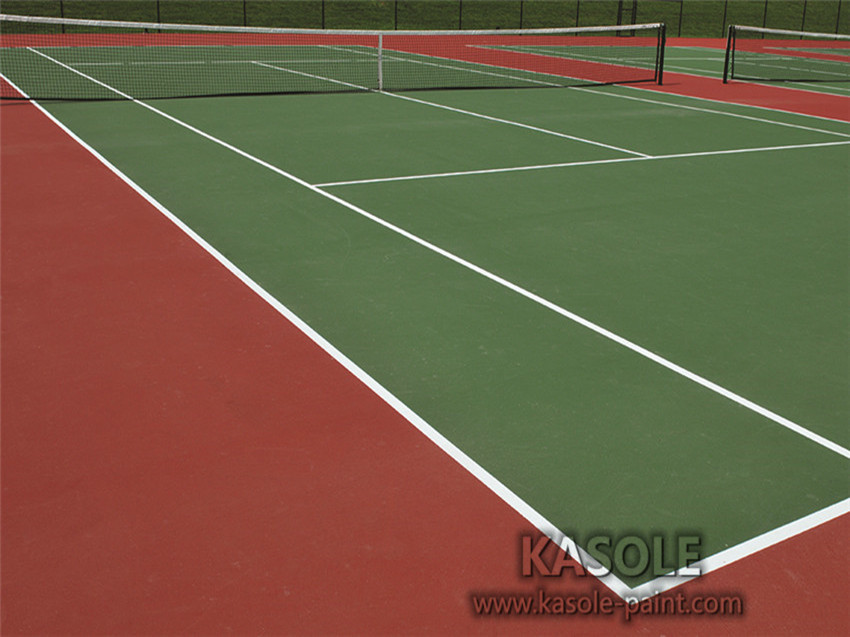 Green Acrylic Sports Flooring