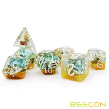Bescon BeachTime Dice Set, Novelty RPG 7-dice Set in Brick Box Packing