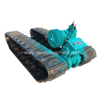 Rubber track chassis 0.5 to 20 Ton undercarriage system for excavator boat with HST HYDROSTATIC system Drilling Rigs