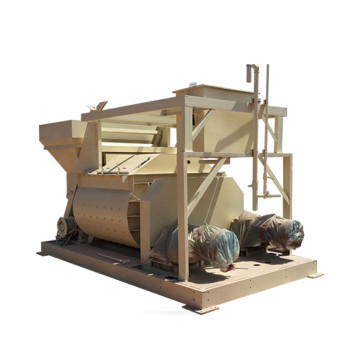 JS1000 twin shafts small manual concrete mixer machine