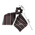 Boho Print Ponytail Scarf Bow Elastic Hair Rope Tie Scrunchies Women Ribbon Hair Bands 2019 Hot Elegant Ladies Hair Accessories