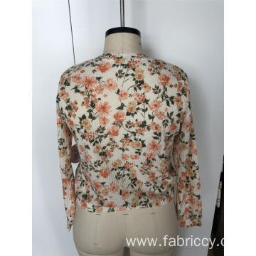 Rowan round neck with small floral long sleeves