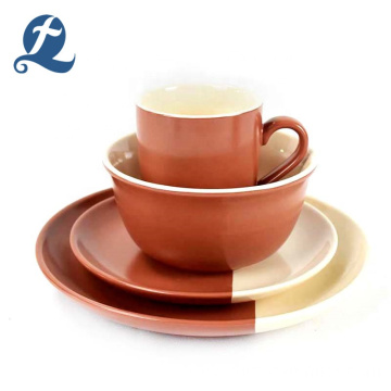 modern color matte ceramic tableware set restaurant
