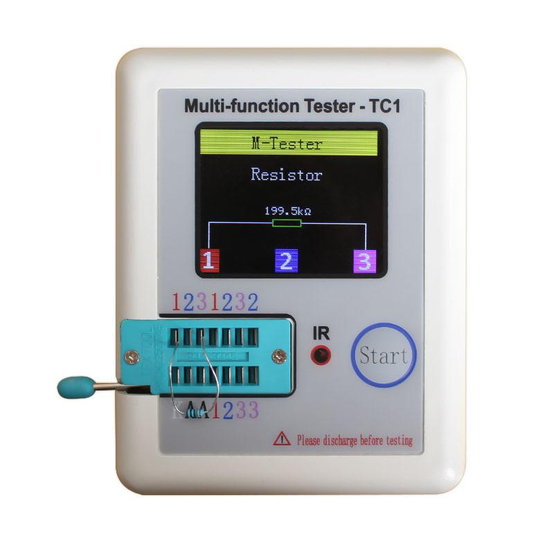 2017 Transistor Tester TFT Diode Triode Capacitance Meter LCR ESR NPN PNP MOSFET LCR-TC1 3.5inch TFT transistor tester
