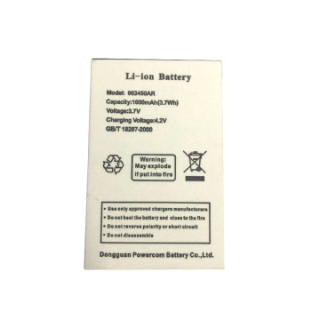 603450 3.7V 1000mAh 3.7Wh Mobile Phone Battery
