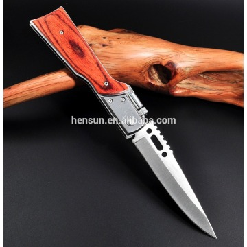 Fast Opening Foldable Pakkawood Handle Pocket Knives