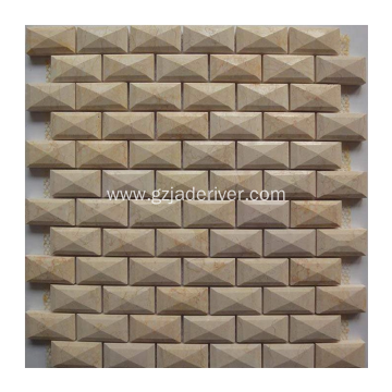 3D Carrara Marble Mosaic for Wall