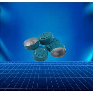 green tear-off cap for contact lenses