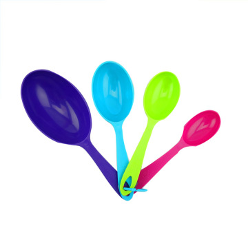 4pcs colorful plastic measuring spoons