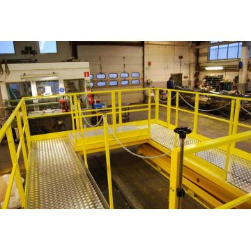 Platform material lift hydraulic
