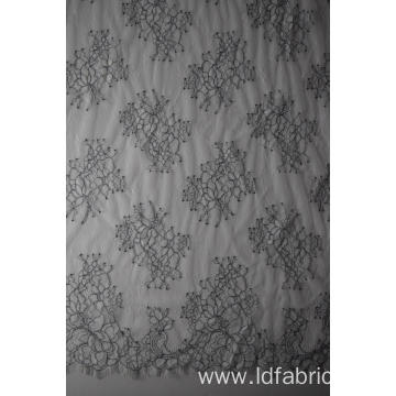 Hot Sale Nylon Polyester Panel Lace Fabric