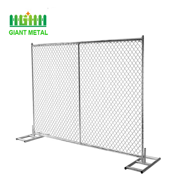 Professional Factory Brace Chain Link Mesh Temporary Fence