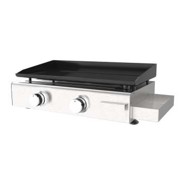 Two Burner Gas Plancha With Condiment Box