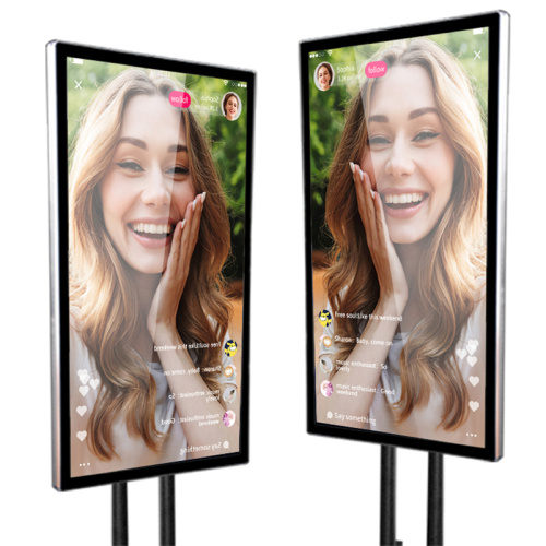 "65"" live streaming lcd touch screen"