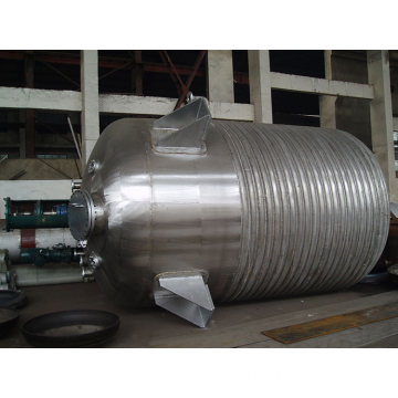 Steam heating stainless steel jacketed glass reactor