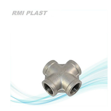 Female thread 4 way cross coupling connector