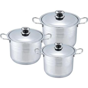 8pcs Safer wide edge stock pot