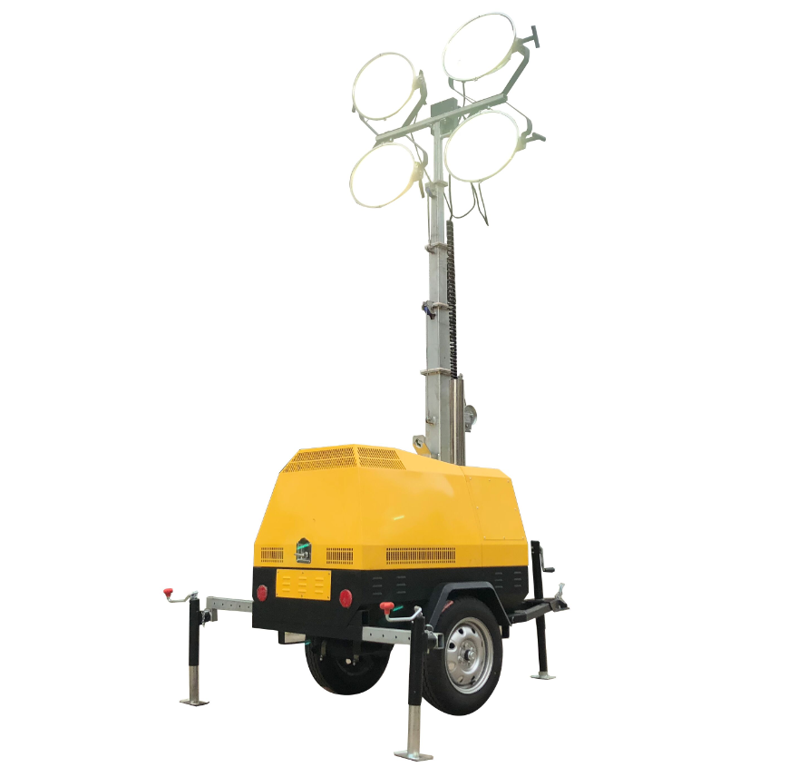 Folding Diesel Kubota Generator Mobile Light Tower