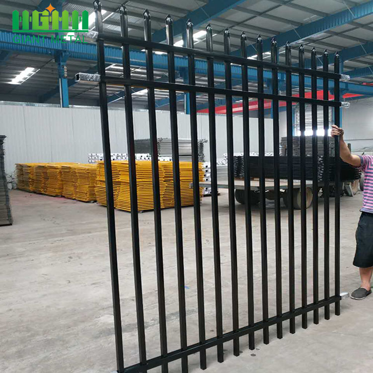 Used Wrought Iron Picket Ornamental Fence/Cheap Metal Fence