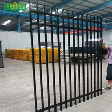 PVC Coated  Wrought Iron Steel Picket Fence
