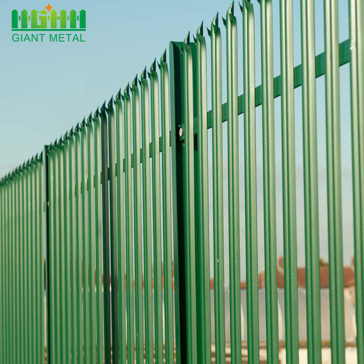 Powder Coated Galvanized Palisade Steel Fencing