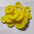 11PCS Cute Heart Shape Disc Binding Disc Buckle DIY Notebook Mushroom Hole Plastic Disc Button Binder Accessories Buckle