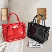 Fashion transparent ladies shoulder bag 2020 Korean version of the new jelly picture bag PU mini handbag messenger bag
