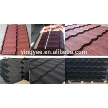 Color stone coated roofing tile production line