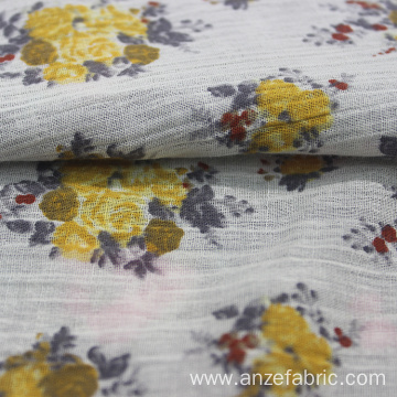 floral printed 100% cotton gauze fabric
