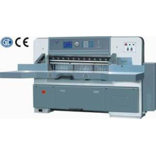 Program control single hydraulic single worm wheel paper cutting machine
