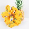 Ruoshui Printed Floral Scrunchies Women Dot Hair Ties Boho Elastic Hairband Woman Hair Accessories Girls Ponytail Holders