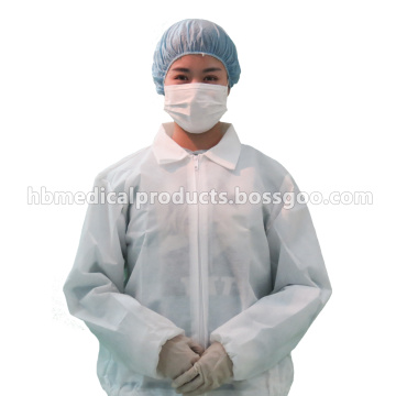 white color PE laminated PP lab cloth