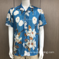 Male 100% polyester costume sequins short sleeve shirt