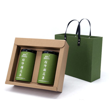 Custom Kraft Paper Tea Bag Gift Packaging Box