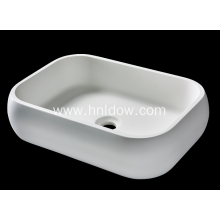 Pure Acrylic Rounded Rectangle basin for bathroom
