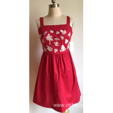 Fashion Summer Sweet Ladies Cotton Poplin Dress