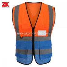 100% polyester fabric hi vis reflective safety vest