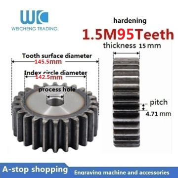 1pc 1.5M 95Teeth gears 1.5 modulus brass reduction gears for principal axis gear DIY Micro Motor Gear Box Mating accessories