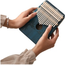 High-Quality 17 Keys Kalimba Thumb Piano Mahogany Body Musical Keyboard instrument for Beginners with Full set of accessories