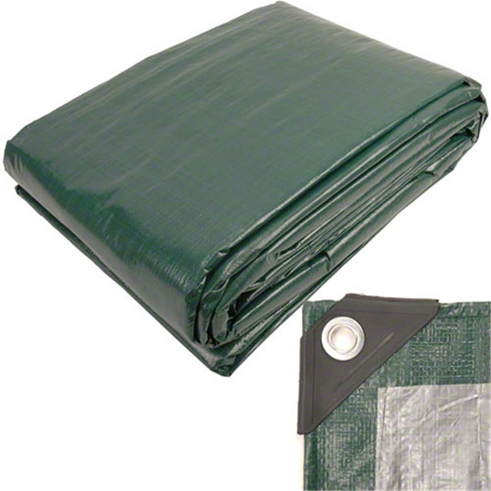 150gsm Olive Green Silver Color Tarpaulin