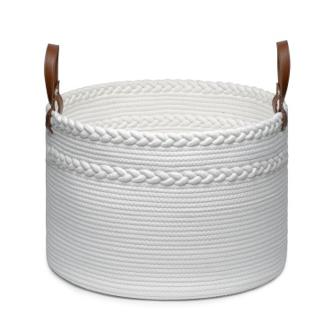 Dual Braided Cotton Rope Laundry Storage Basket