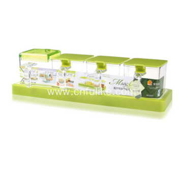 Plastic Seasoning Box Set for Kitchen