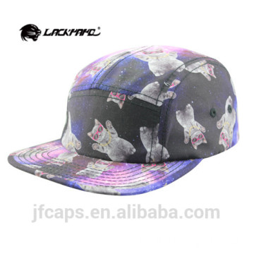 cat printing colorful snapback hiphop flat cap